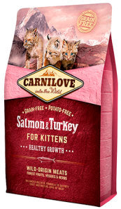 CARNILOVE Salmon & Turkey for Kittens – Healthy Growth - Jurassic Bark Pet Store Littleport Ely Cambridge