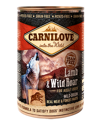 CARNILOVE LAMB & WILD BOAR FOR ADULT DOGS - Jurassic Bark Pet Store Littleport Ely Cambridge