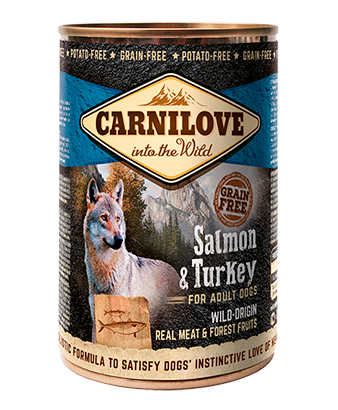 CARNILOVE SALMON & TURKEY FOR ADULT DOGS - Jurassic Bark Pet Store Littleport Ely Cambridge