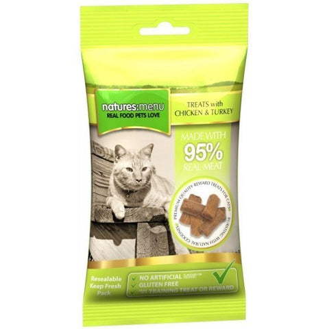 Real Meaty Cat Treats Chicken & Turkey - Jurassic Bark Pet Store Littleport Ely Cambridge