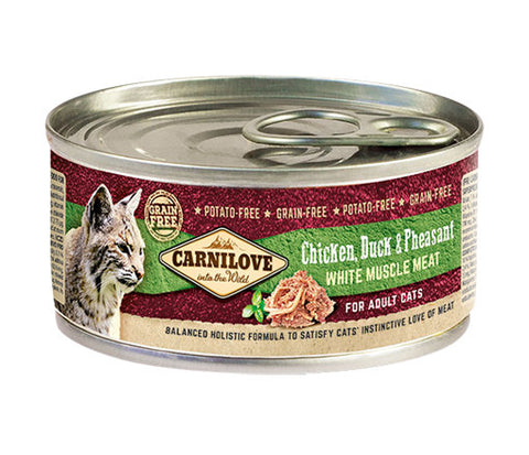 CARNILOVE Chicken, Duck & Pheasant 100g - Jurassic Bark Pet Store Littleport Ely Cambridge
