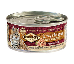 CARNILOVE Turkey & Reindeer 100g - Jurassic Bark Pet Store Littleport Ely Cambridge