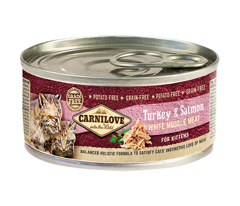 CARNILOVE Turkey & Salmon Kitten 100g - Jurassic Bark Pet Store Littleport Ely Cambridge