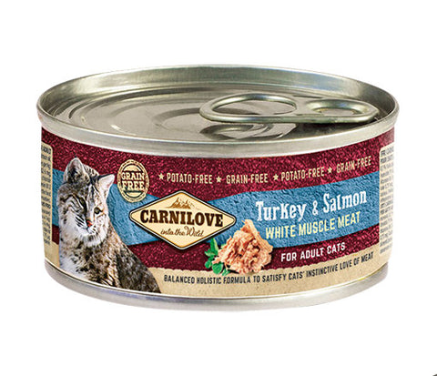 CARNILOVE Turkey & Salmon 100g - Jurassic Bark Pet Store Littleport Ely Cambridge