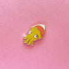 Candy Corn Squid Enamel Pin • Shoal + The Pink Samurai - Enamel Pin - The Pink Samurai