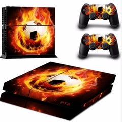 Cristiano Ronaldo CR7 - Football On Fire Skin For PS4 + 2 Controllers