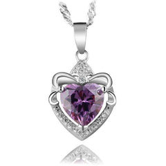 Necklace - Heart Amethyst Necklace