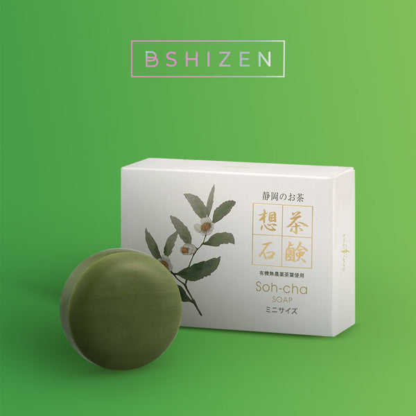 Soh-cha Green tea soap (mini size) 30g