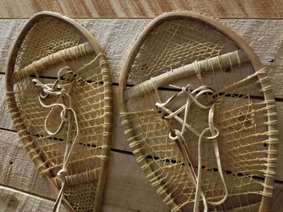 Vintage Wooden Bearpaw Snowshoes
