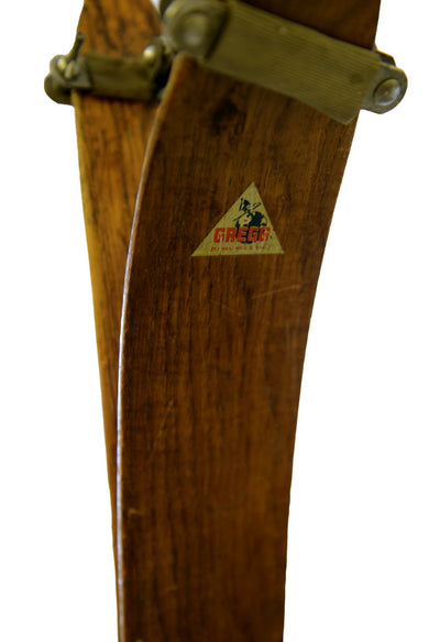 Antique Skis and Boots - Victor Gregg Mfg. Ski Co.