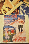 Vintage Marble Ski Coaster - Luchon Sports d' Hiver