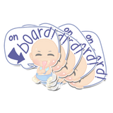 Baby On Board Weather Resistant Stickers (Eating)