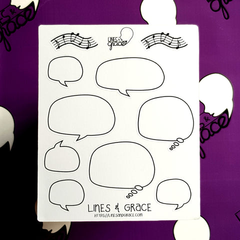 Speech Bubbles - Comic Stickers