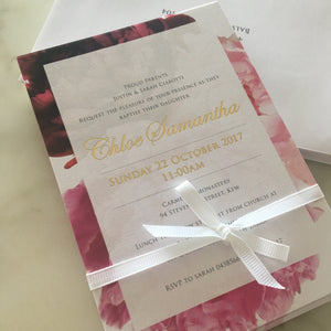 Chloe's Christening Invitations
