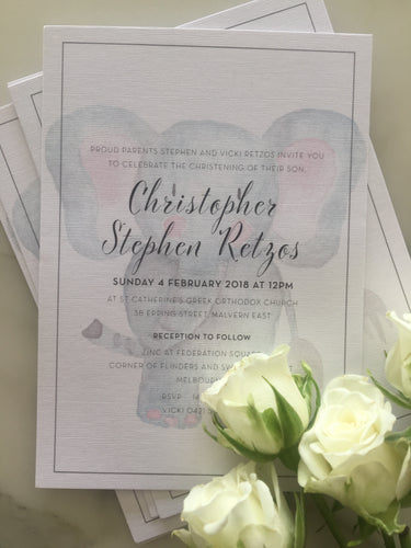 Christopher's Christening Invitations