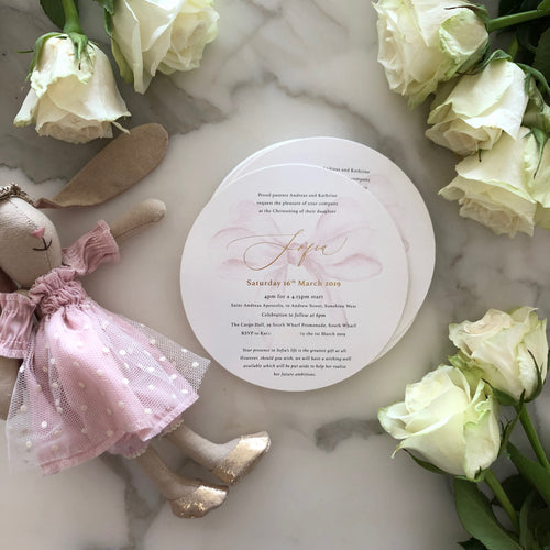 Andreas and Kathrine's Christening Invitations