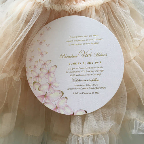 Paraskevi's Christening Invitations