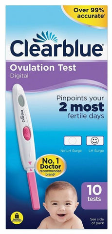Clearblue - Pack de 10 tests d'ovulation digital