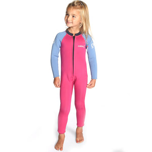 C-Skins Baby C-Kid 3/2mm Wetsuit | Magenta/Powder Blue/Slate