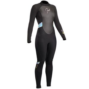 Gul Response Women's 3/2mm Spring Summer Wetsuit | Black/Lines