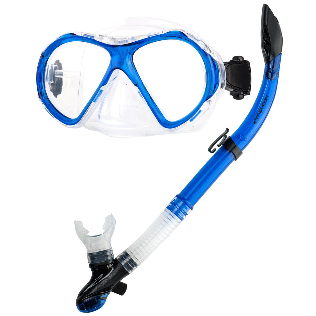 Typhoon Small & Light Snorkeling Set With Semi Dry Snorkel