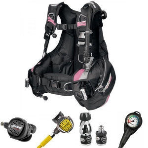 Cressi Ladies Travel Light BCD and MC5 XS Compact Regulator Package