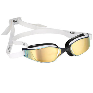 Michael Phelps MP XCEED Titanium Mirrored Swimming Goggles | White/Black
