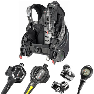 Mares Ultimate Scuba Diving BCD and Adjustable Regulator Package