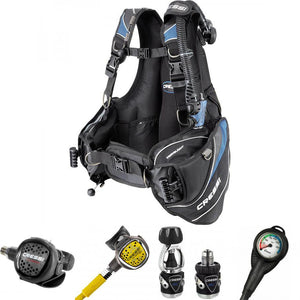 Cressi MC9 XS Compact Regulator & Travel Light BCD Package