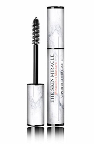 100% Organic Vegan, Cruelty Free, Miracle Lash Superfood Mascara Noir - Eyelash Nutrition By The Skin Miracle Satisfaction Guarantee