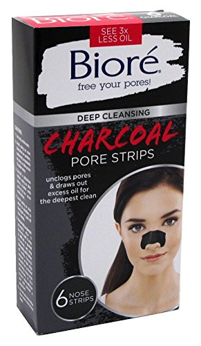 Biore Deep Cleansing Pore Charcoal Strips, 6 Count