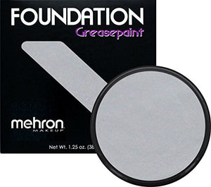 Mehron Makeup Foundation Greasepaint- Silver- 1.25Oz.
