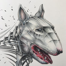 "Load image into Gallery viewer, Fine Art Print ""Bull Terrier Slice"""