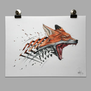 "Fine Art Print ""Fox Slice"""