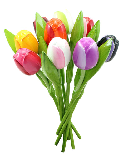 Bouquet of wooden tulips (large)
