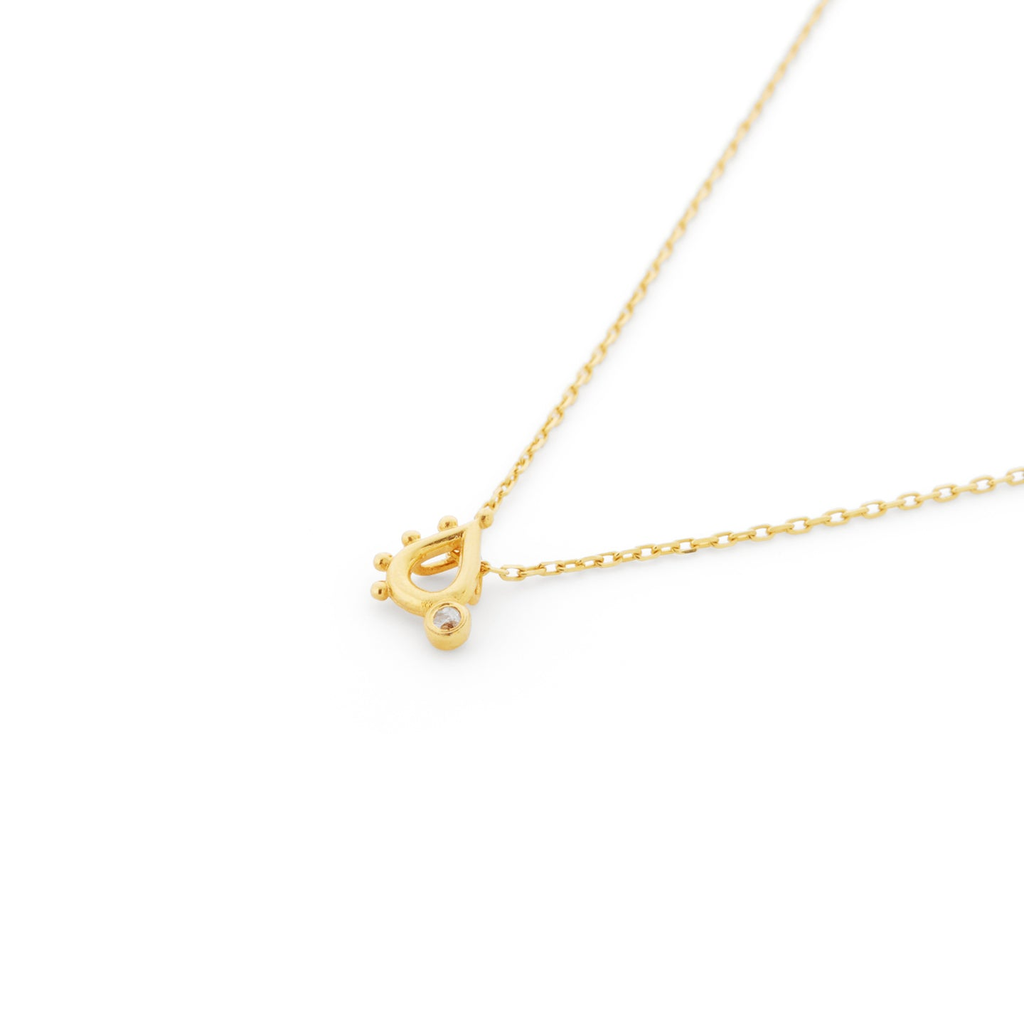 Coleridge Diamond Necklace in Gold Vermeil
