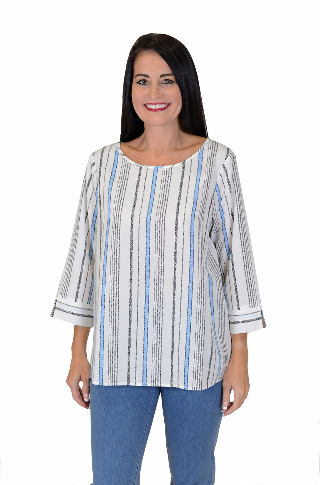 Cali Girls Sally Stripe Boxy Shirt