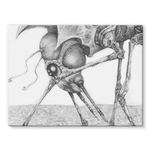 Giant Alien Bug Stretched Canvas