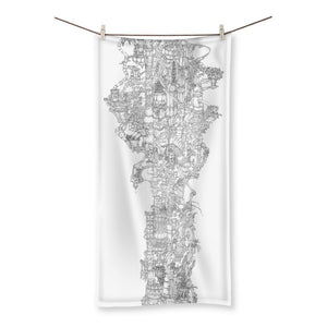 Space Elevator Beach Towel