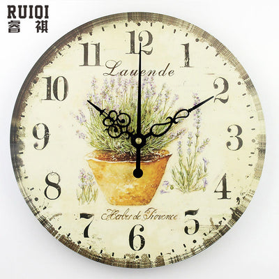 Wall clock chic style for living room decoration
