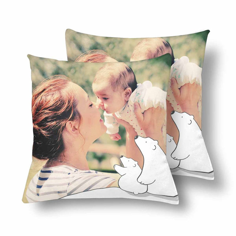 Custom XOXO Dad Face Photo Pillow-Father's Day Gift