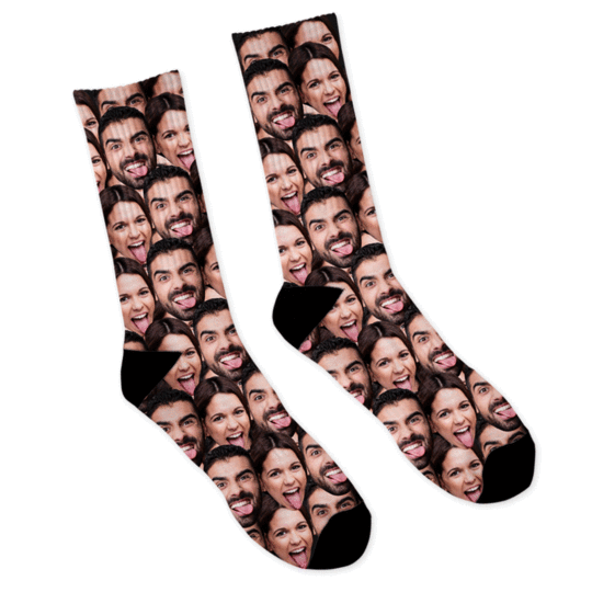 Custom Face  Socks Mash Photo Socks - Make Custom Gifts