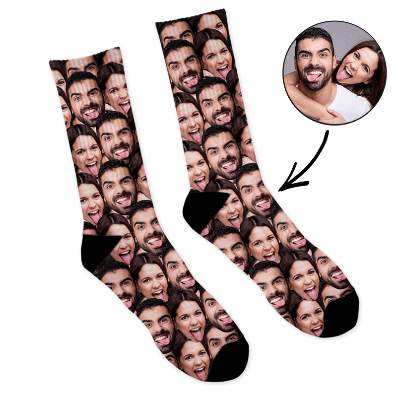Custom Mash Face  Socks 3 For 2 - Make Custom Gifts
