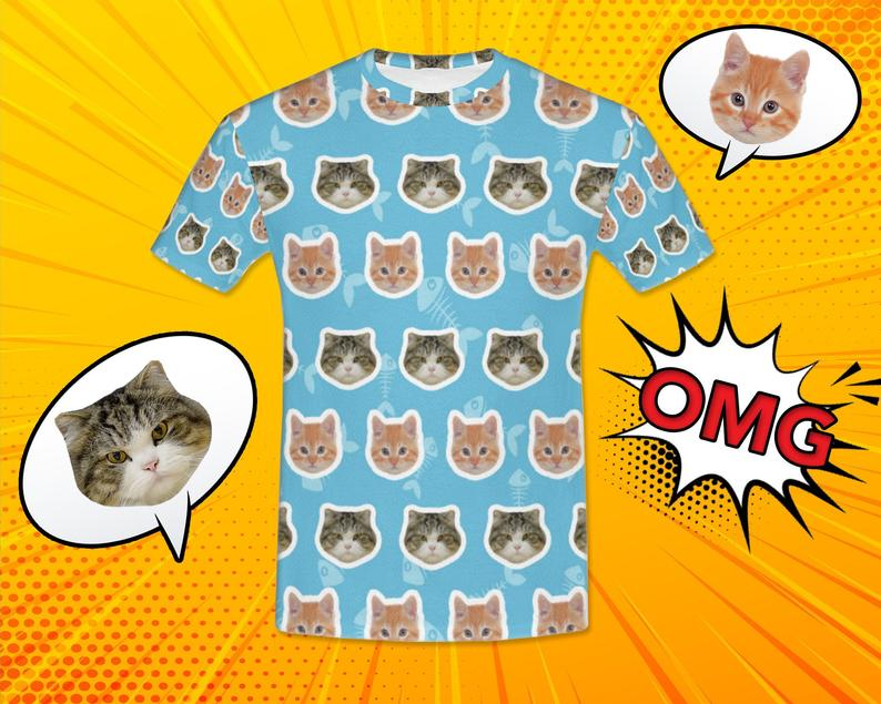 Custom Two Cats Face Shirt - Make Custom Gifts