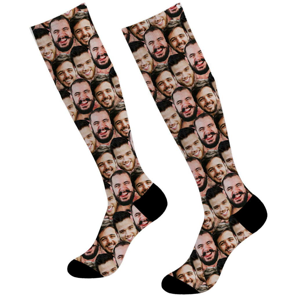 Custom Face Socks Mash Soccer Socks Knee High - Make Custom Gifts