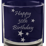 Happy 30th Birthday - Engraved Whisky Tumbler Glass - engraving-gallery.com