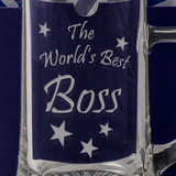 The World's Best Boss - Engraved Tankard Beer Pint Glass - engraving-gallery.com
