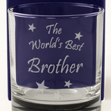 The World's Best Brother - Engraved Whisky Tumbler Glass - engraving-gallery.com