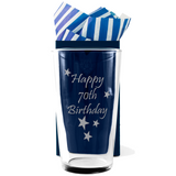 70th - Happy 70th Birthday - Engraved Beer Pint Glass - engraving-gallery.com