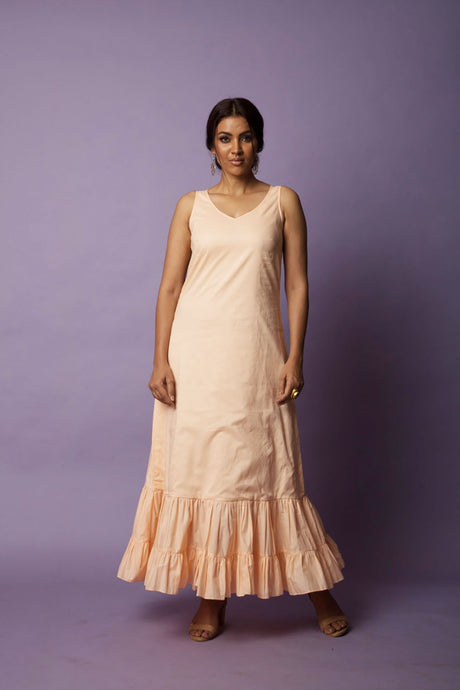 Bush Peach Frill Dress